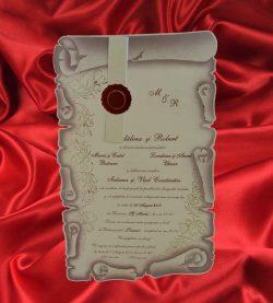 invitatii de nunta papirus