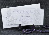invitatie 1074 argintie