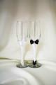 pahare nunta alb cu negru