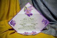 invitatii nunta tip plic mov 220