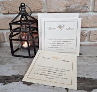 invitatii de nunta 2541 crem sidefat