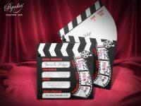 Invitatii nunta tema cinema
