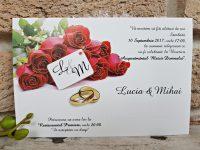 invitatii nunta ieftine 2653 trandafiri rosii