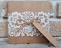 Invitatie nunta 2666 carton kraft