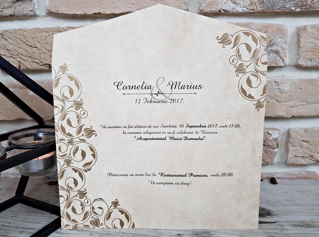 Invitatii Nunta 2668 Invitatii Garf