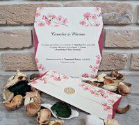 Invitatie nunta flori 2673