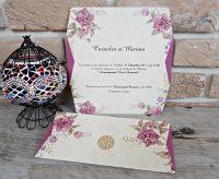 Invitatie nunta motive florale