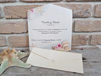 Invitatie nunta motive marine