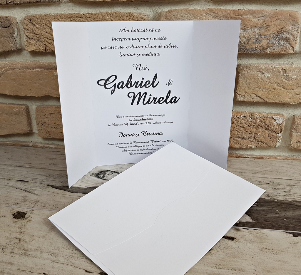 Invitatii Nunta 2742 Invitatii Garf