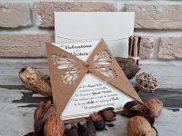 invitatii nunta 2767 elegante cu fluturi