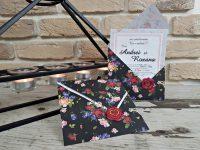 invitatii nunta 2773 moderne cu flori