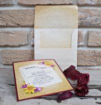 invitatii nunta 2774 tip felicitare, clasica