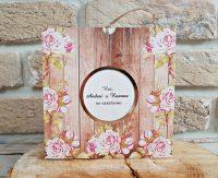 invitatii nunta 2775 moderne cu flori roz