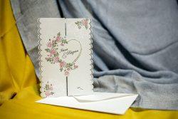 invitatii nunta 3282 cu inimioare