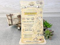 invitatii nunta geamantan, valiza, calatorie 39308