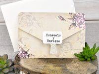 invitatii nunta vintage 39313