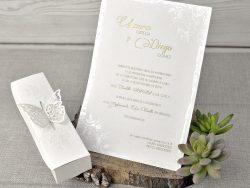invitatii nunta cu fluturi