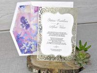 invitatii nunta decupate laser 39341
