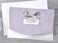 invitatii nunta 39345 mov cu fundita