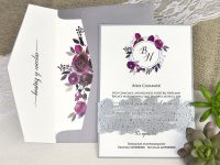 invitatii nunta 39630 gri moderne