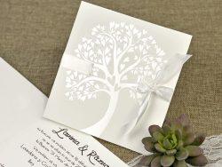 invitatii nunta 39642 copacul vietii si inimioare