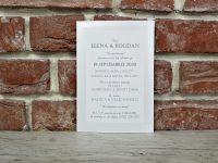 invitatie nunta clasica eleganta