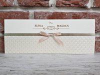 invitatie nunta 5438 eleganta crem