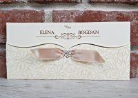 invitatie nunta eleganta crem clasica