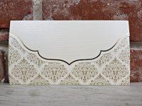 invitatie nunta 5515 eleganta crem clasica