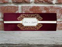 invitatie nunta 5573 eleganta catifea