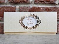invitatie nunta 5620 eleganta crem