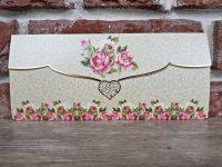 invitatie nunta 5633 moderna cu flori