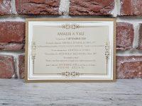 invitatie nunta 5666 eleganta clasica