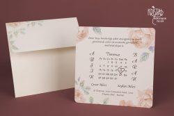 invitatii nunta calendar