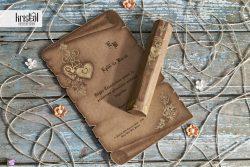 invitatii nunta cutiuta papirus pergament 70224