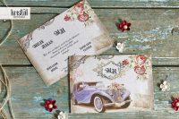 invitatii nunta 70337 vintage