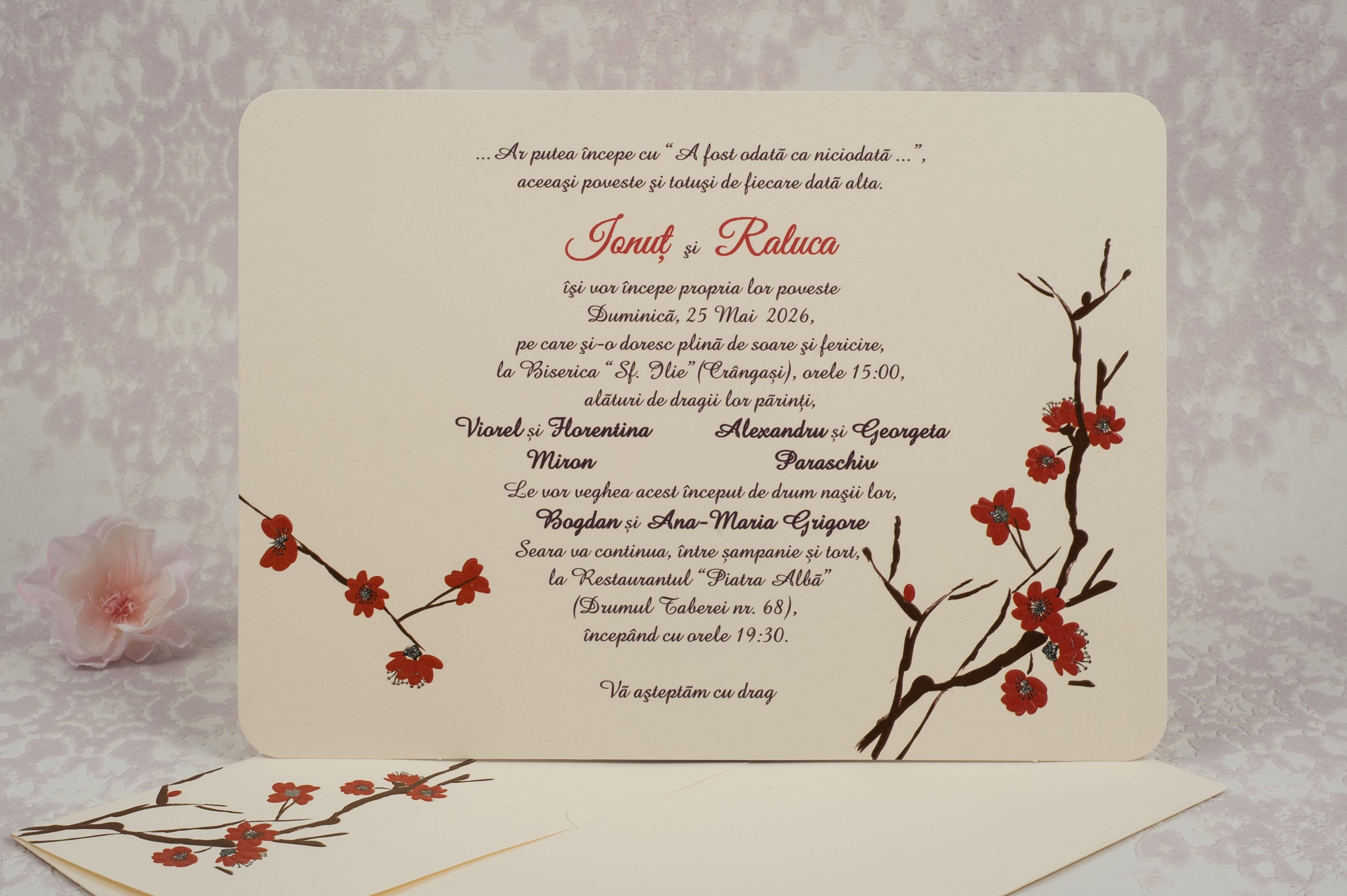 Invitatii Nunta 10165 Invitatii Garf