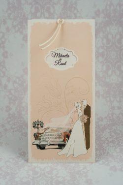 invitatii nunta vintage