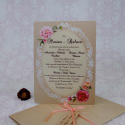 invitatii nunta roz 2215