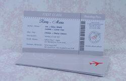 invitatii nunta bilet avion 2219