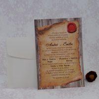 invitatii nunta papirus