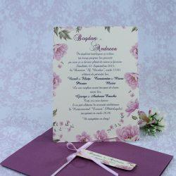 invitatii nunta mov