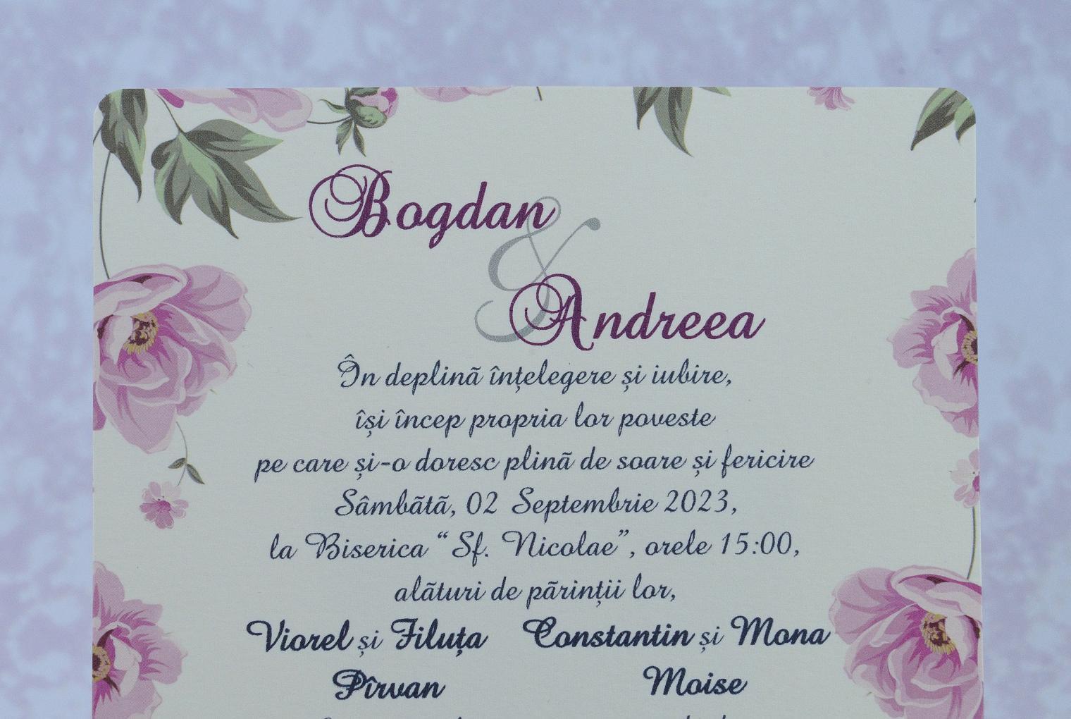 Invitatii Nunta 2201 Invitatii Garf