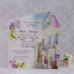 invitatii nunta vintage 2207