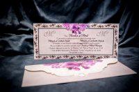 invitatie nunta 4020 eleganta cu flori moderna clasica