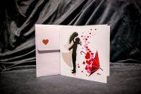 invitatie nunta 5030 clasica cu inimioare moderna