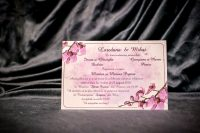 invitatie nunta 4026 cu flori clasica eleganta moderna ieftina