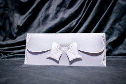 invitatie nunta 5022 cu fundita clasica eleganta