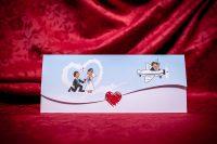 invitatie nunta 5020 haioasa clasica moderna ieftina cu inimioare