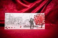 invitatie nunta 5012 cu inimioare clasica moderna eleganta